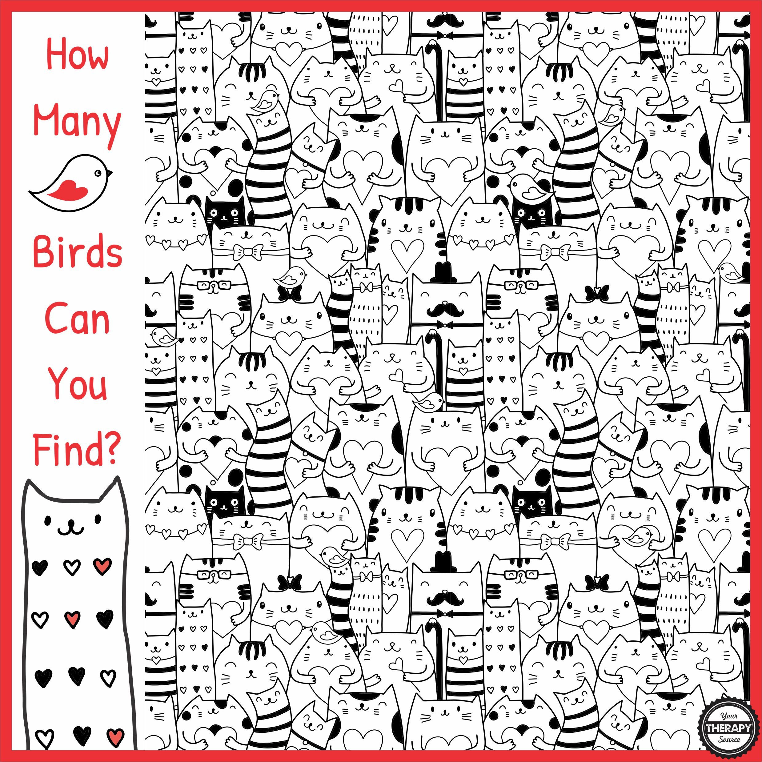 How Many Birds Can You Find Visual Perceptual Activity