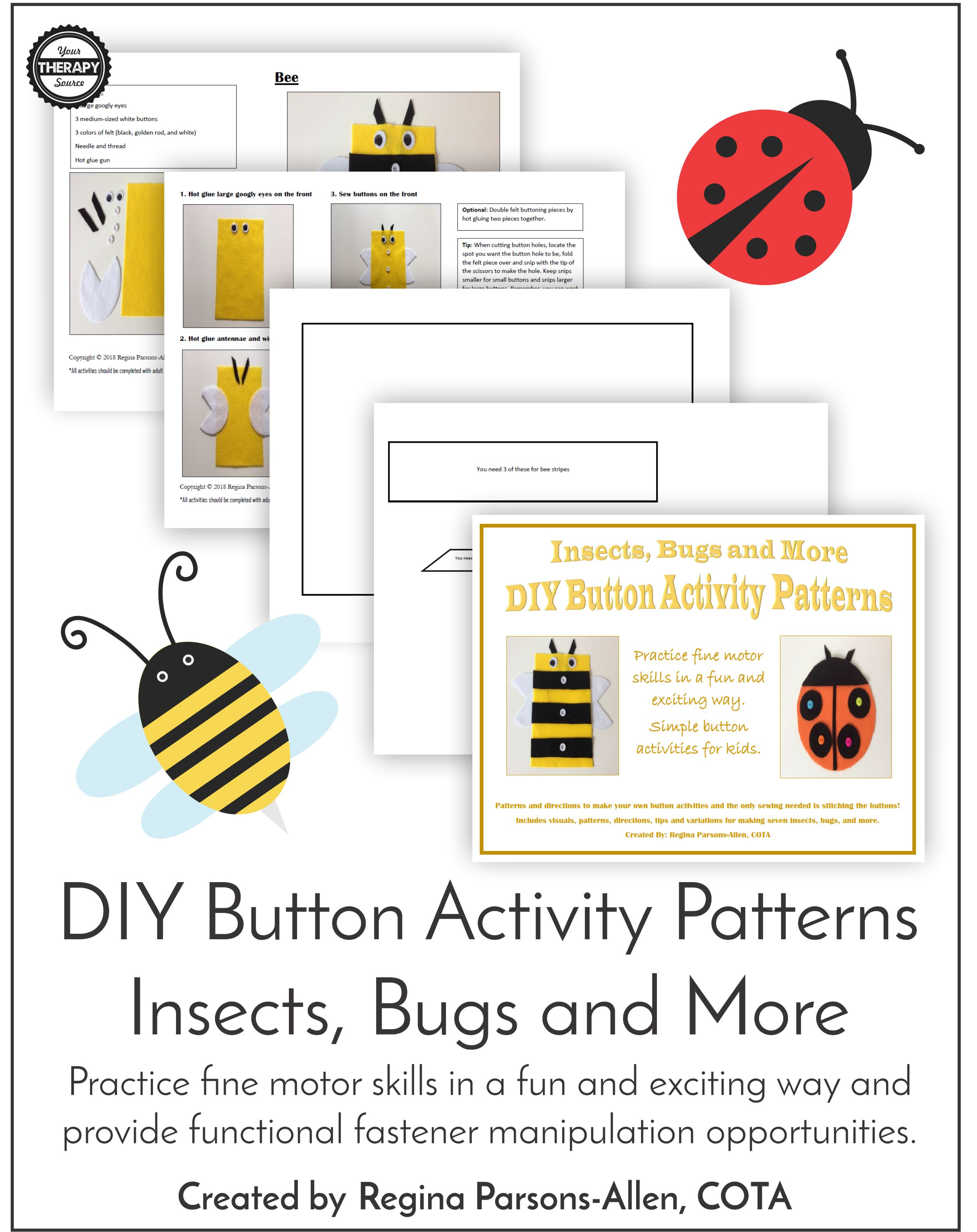 Button Activity Patterns Insects Bugs And More