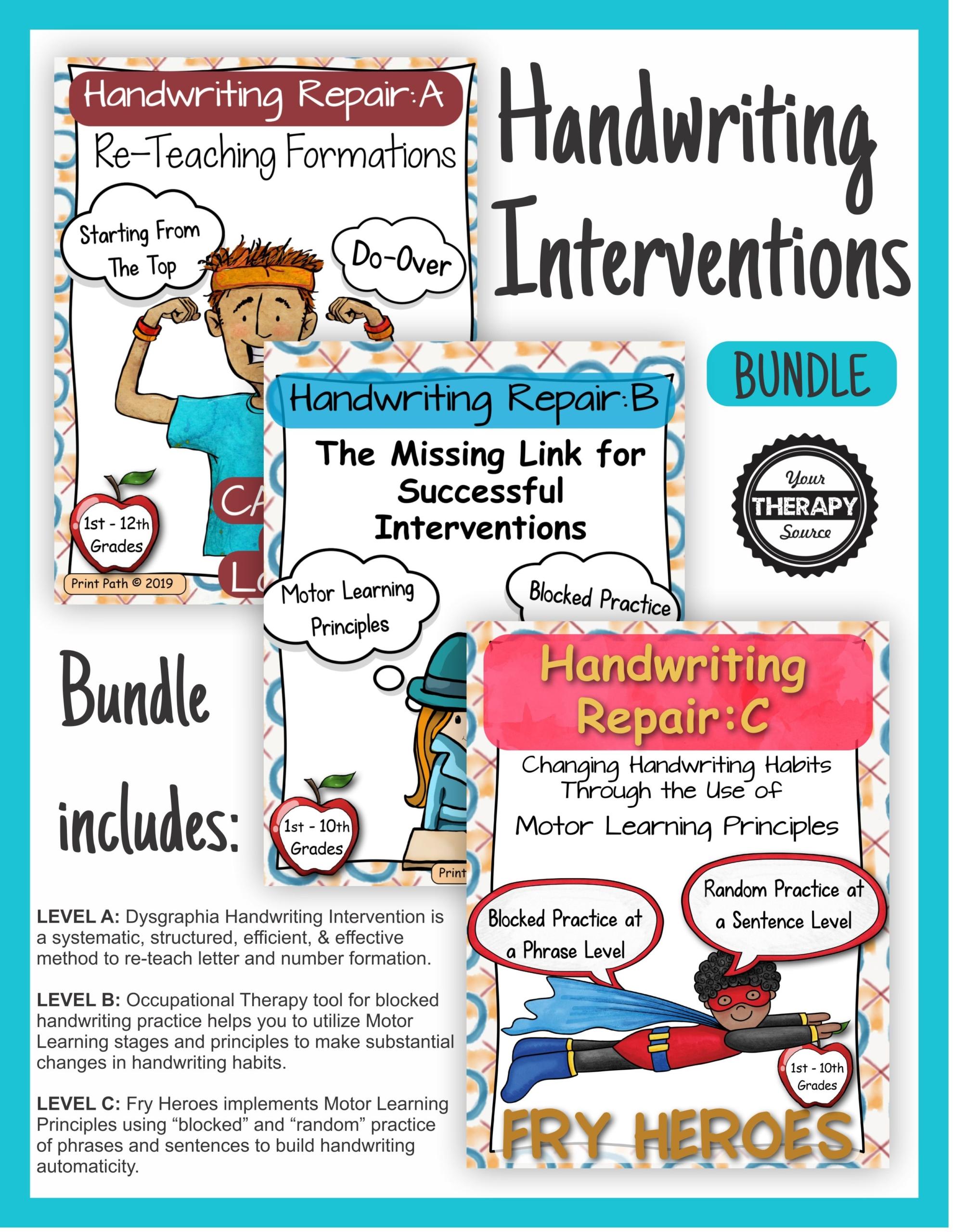 Handwriting Interventions Bundle