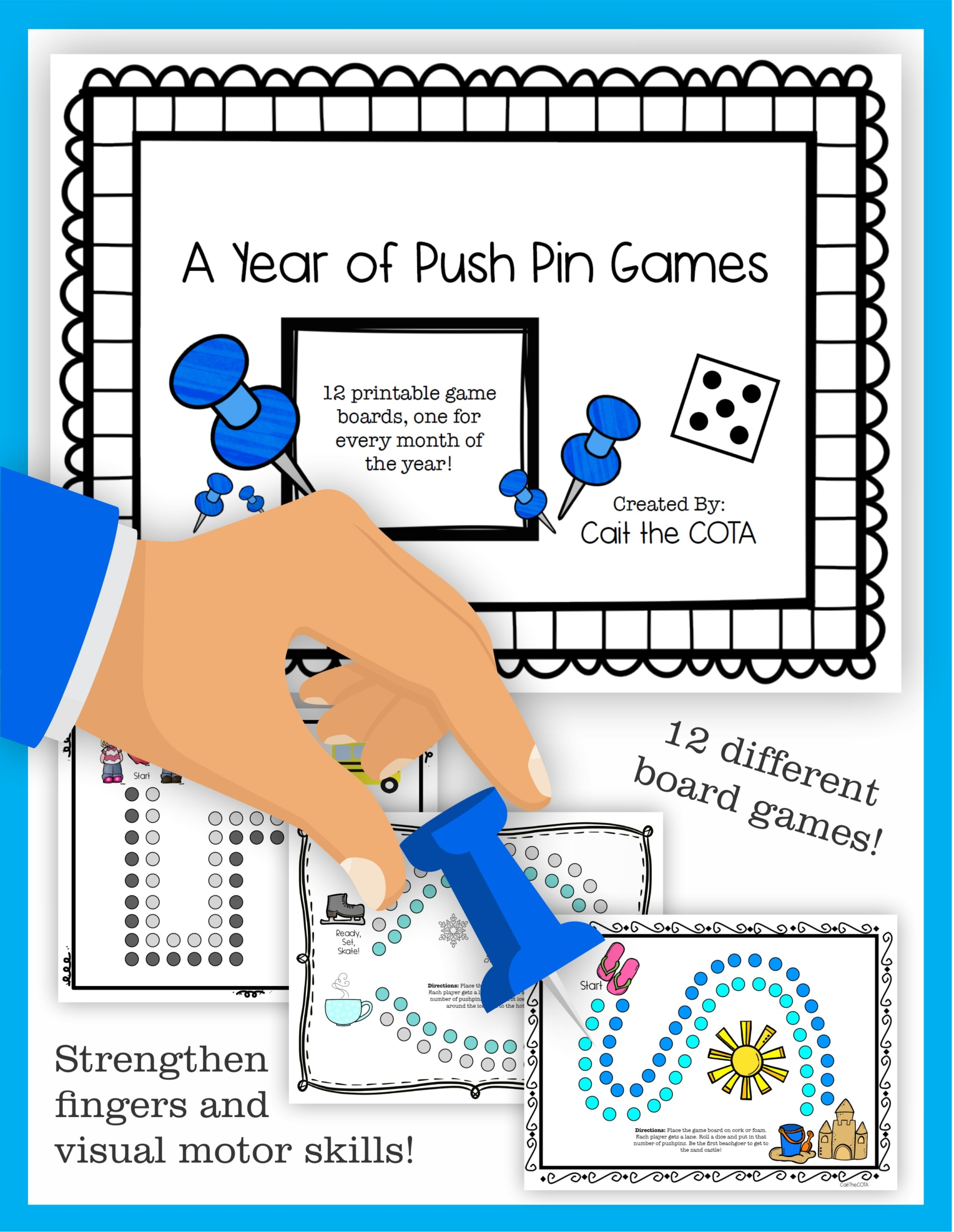 Montessori Pin Poking Games For All Year