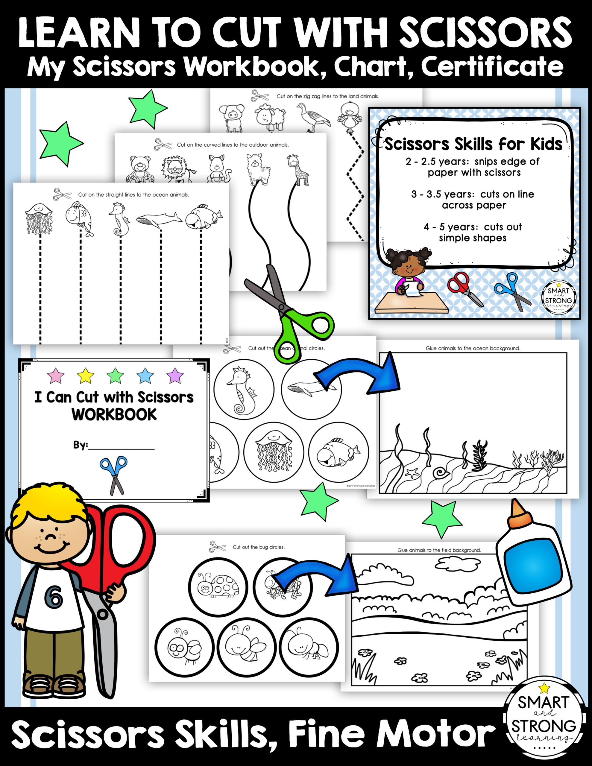 Scissor Skills Printable Worksheets