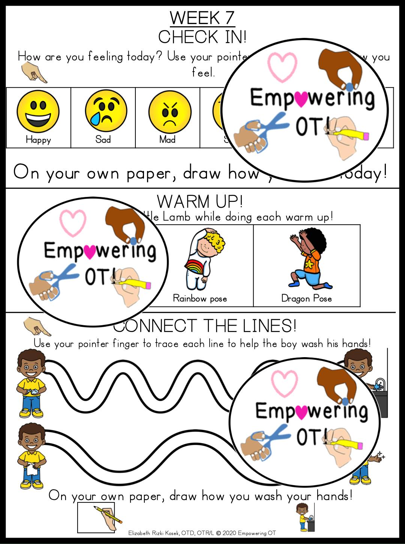 Occupational Therapy Preschool Activities Set 2