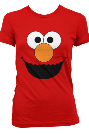 Womens Elmo Tee Sesame Street Toon Town Sesame Street