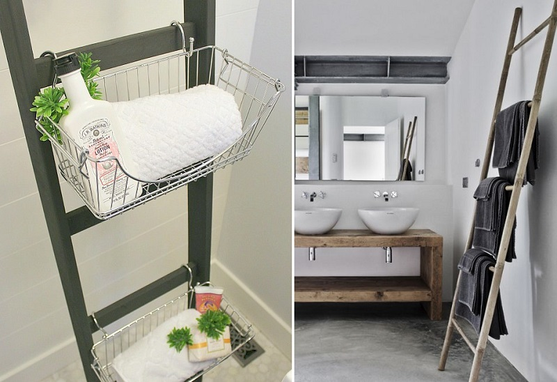 bathroom ladder hack