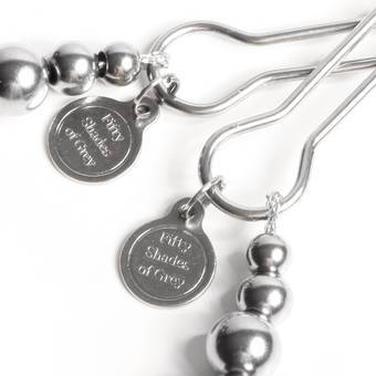 The Pinch Adjustable Nipple Clamps from the Fifty Shades Collection