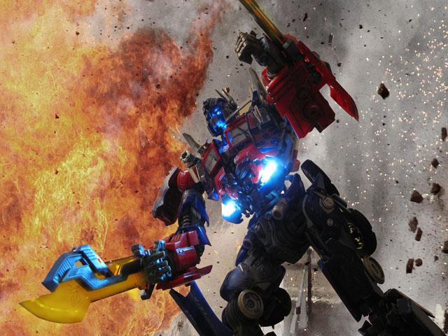 Optimus's battle pose