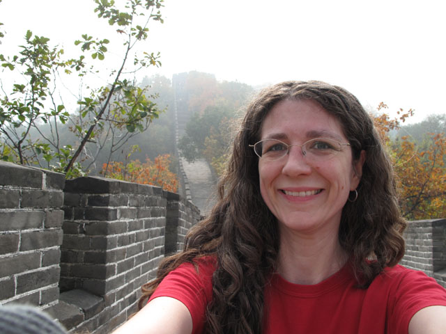 Me at the Great Walll of China