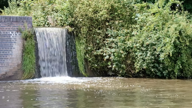 Overflow Weir on a canal, Lapworth, UK