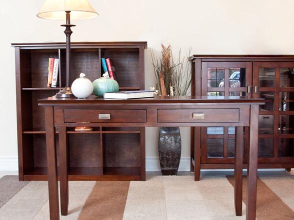 Image Result For Simpli Home Artisan Console Sofa Table Medium Auburn Brown