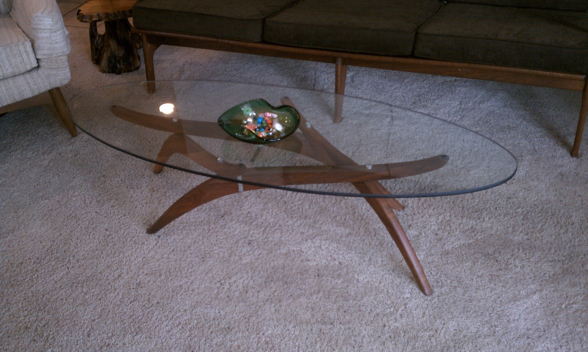 mid century modern teak base coffee