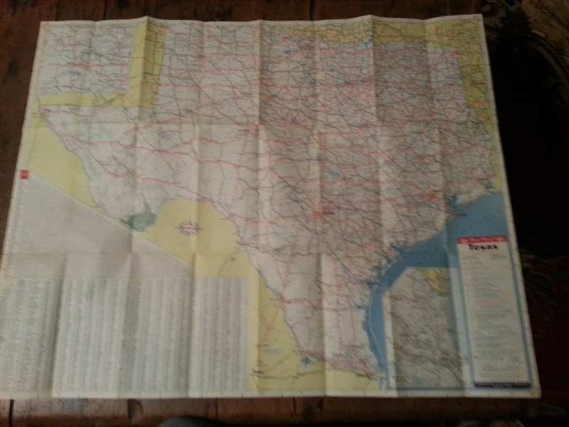 1950 Humble Road Map of Texas with Pictorial Guide   Collectors Weekly