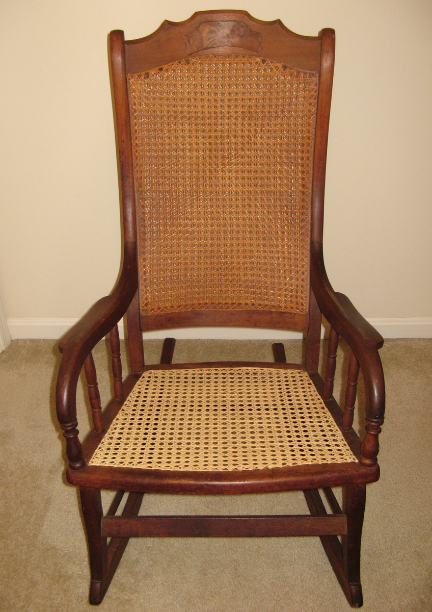 Big Wood And Cane Rocking Chair Collectors Weekly