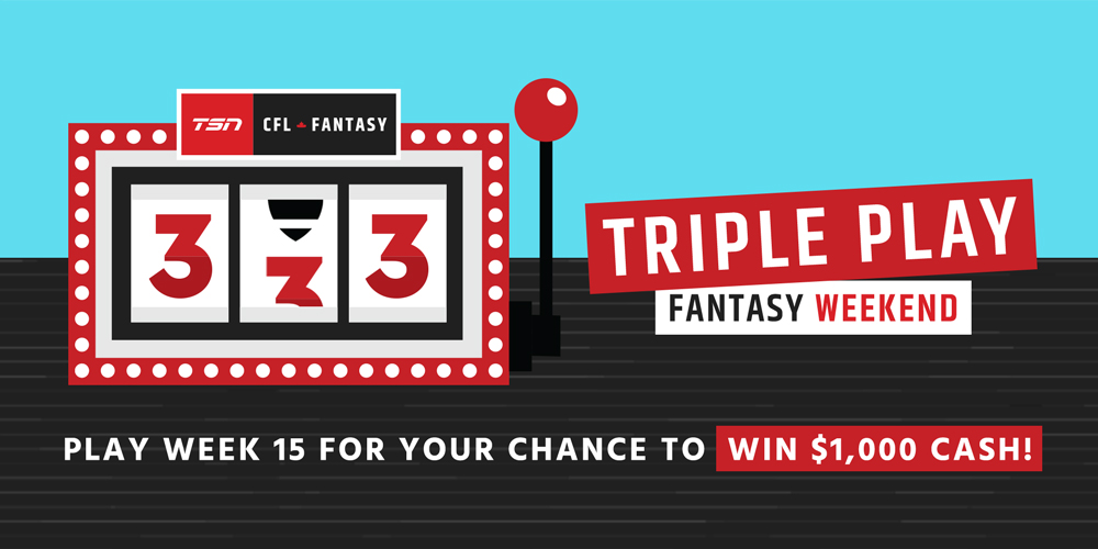 Tsn Cfl Fantasy Triple Play Weekend Your Chance To Win