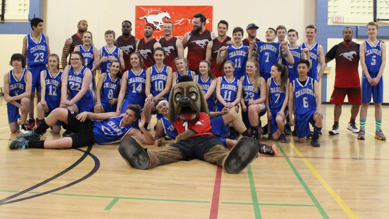 Hoops Team Victorious At Valley Creek Calgary Stampeders