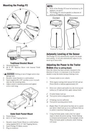 Prodigy P2 90885 General Brake Controller Information | R
