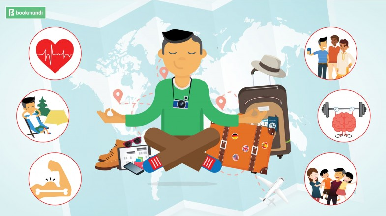 An infographic showing 10 Ways Travel can Improve Your Health and Happiness