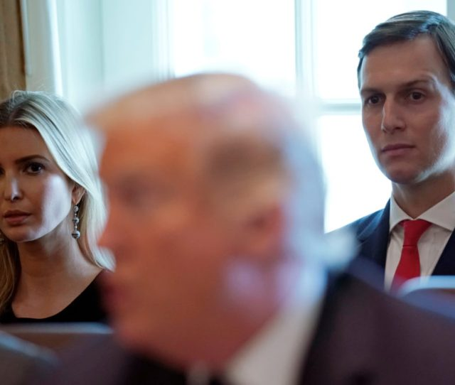 Ivanka Trump And Jared Kushner Listen As U S President Donald Trump Holds A Cabinet Meeting At