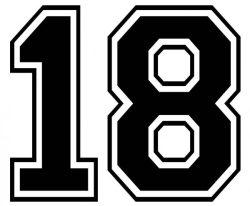 背番号18