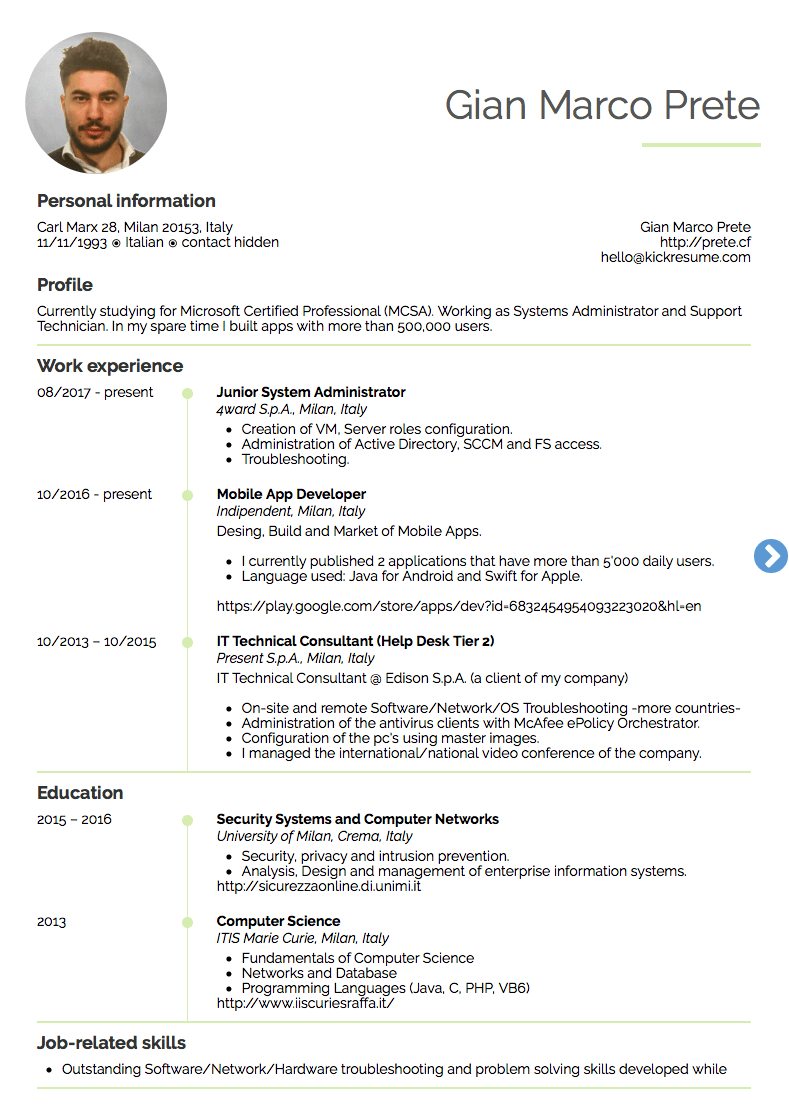 10 Real It Resume Examples That Got People Hired At