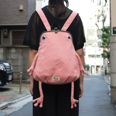 【ジムマスター】かえるガマグチリュック(ピンク)