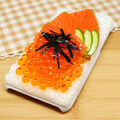 【VV限定】食品サンプル屋さんのスマホケース(iPhone6/6s:鮭イクラ丼)【atelier cook】