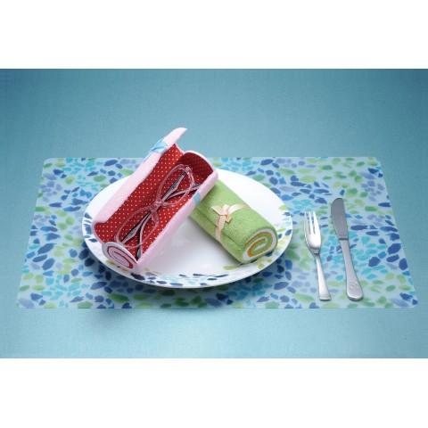ロールケーキ風のメガネケース グリーン