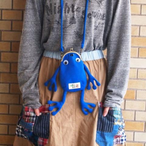 【ジムマスター】【カエルタグ】かえるガママルチケース(ブルー)