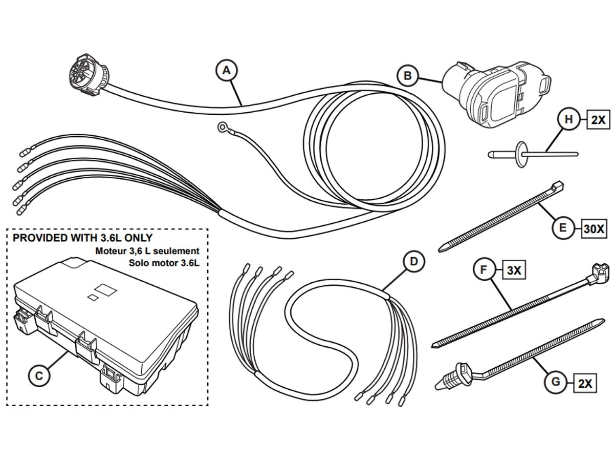 Genuine Mopar Trailer Tow Wiring Harness