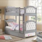 Perlie Twin Over Twin Upholstered Bunk Bed