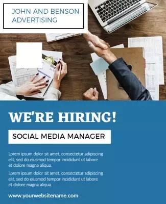 hiring poster templates photoadking