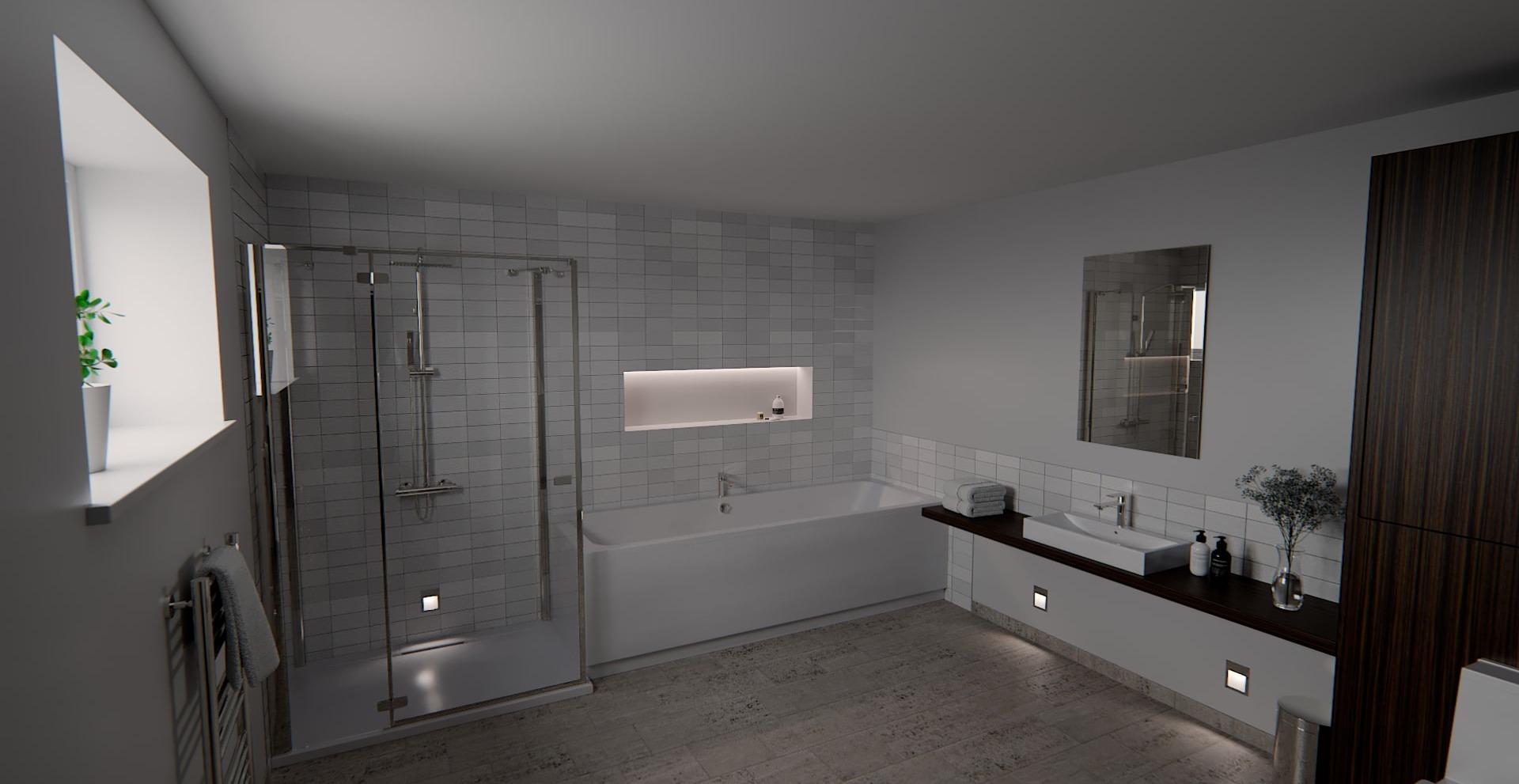 Bathroom, Interior, Exterior Lighting Designers
