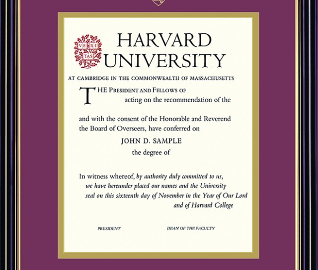 Home Harvard Gifts Collectibles Diploma Photo Frames Harvard University Embossed Diploma Frame
