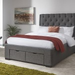 Colne Grey King Size Bed Frame With Drawers