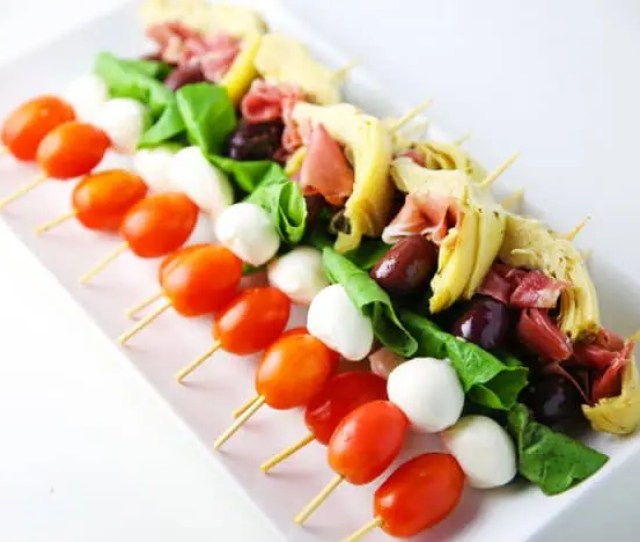 These Easy Antipasto Skewers Can Be Put Together At The Last Minute And Are Perfect For
