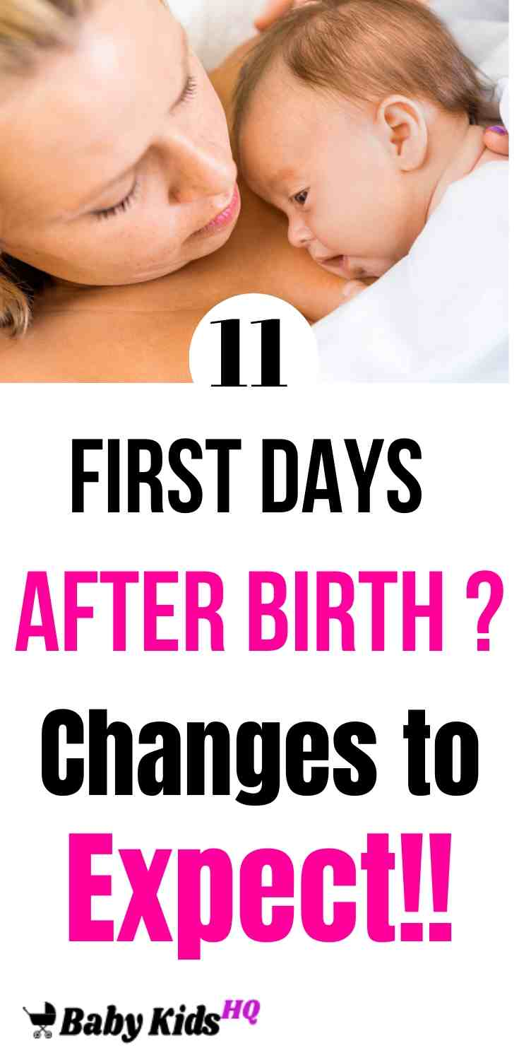 First Days After Birth: 11 Changes to Expect!! 4