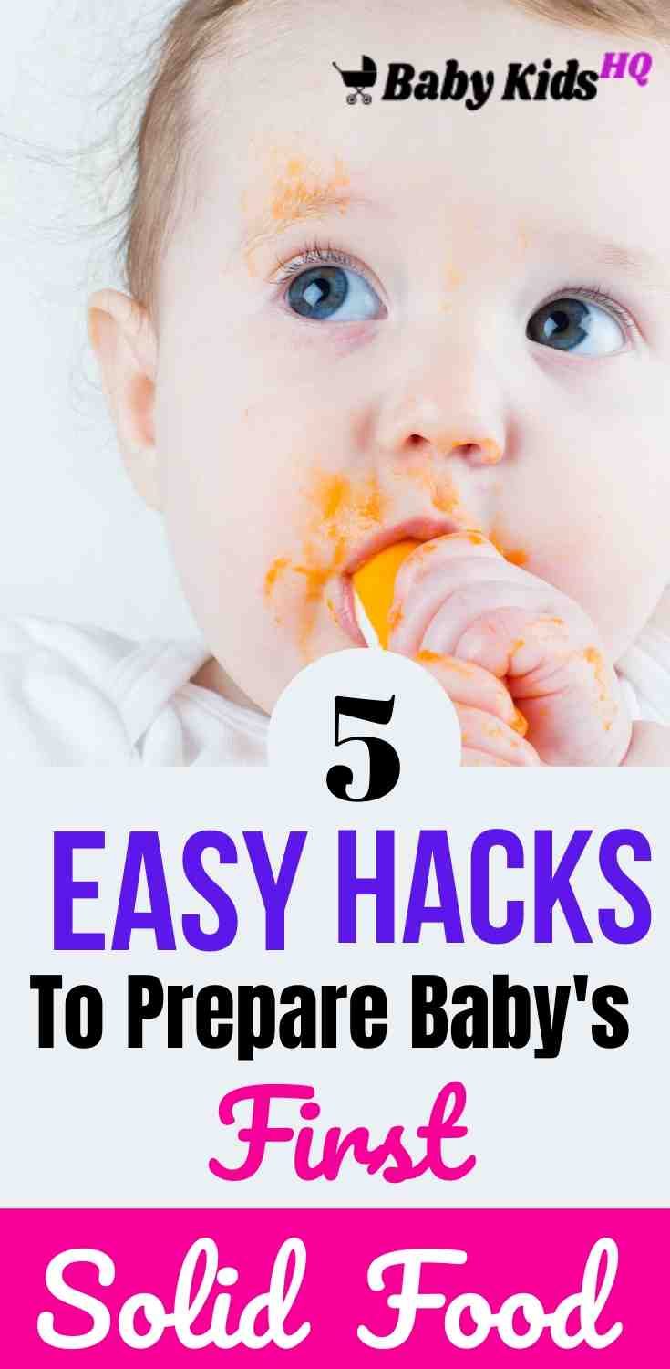 5 Easy Hacks To Prepare Baby's First Solid Food 3