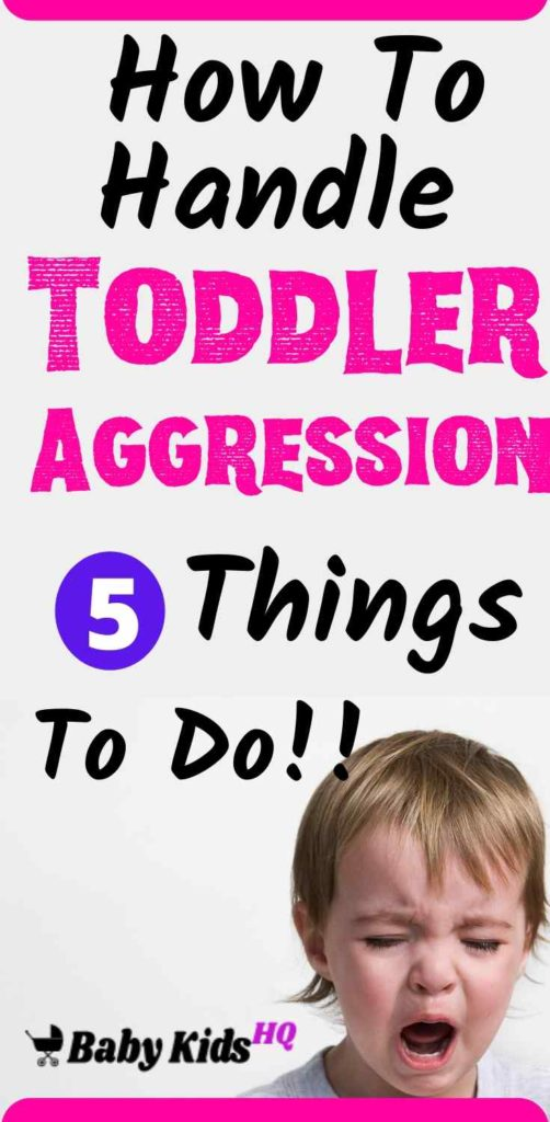 Shocking as it may be to you (and onlookers), aggressive behavior is a normal part of your toddler's development. Still-emerging language skills, a fierce desire to become independent, and undeveloped impulse control make children this age prime candidates for getting physical. Let your toddler know that aggressive behavior is unacceptable and show him other ways to express his feelings. #parenting #parentingtips #toddleraggression