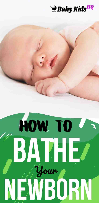 How To Bathe A Newborn 1