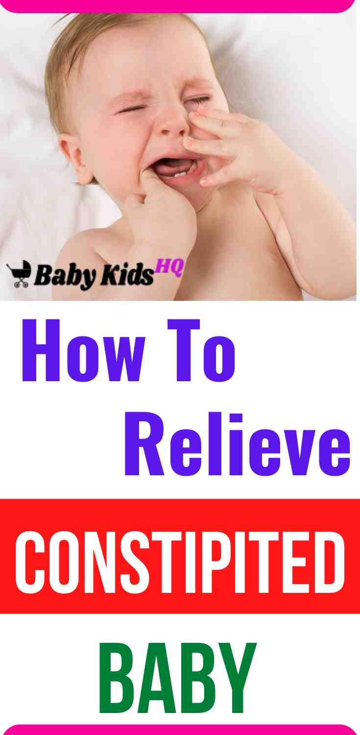 How To Relieve Constipation In Babies
