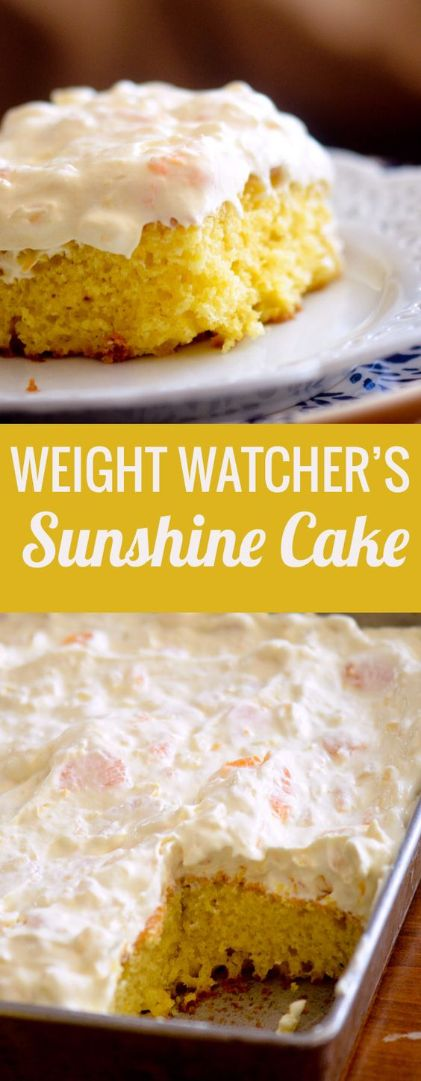 Weight Watchers Sunshine Cake