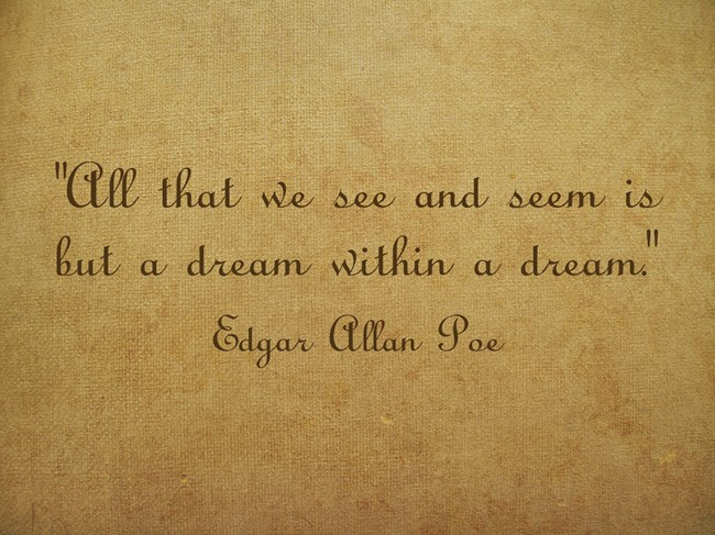 All that we see and seem is but a dream within a dream. - Edgar Allan Poe