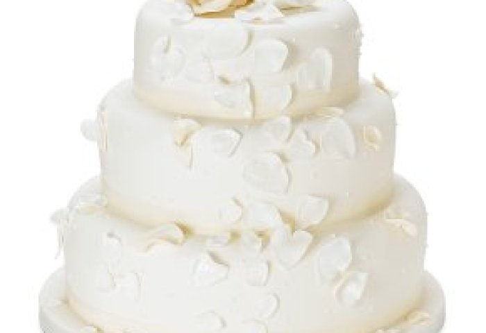 Fiona Cairns Ivory Rose Petal 3 Tier Wedding Cake Fruit Waitrose