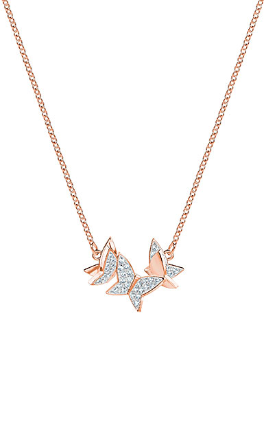 Swarovski Lilia Small Crystal Rose Gold Butterfly Pendant