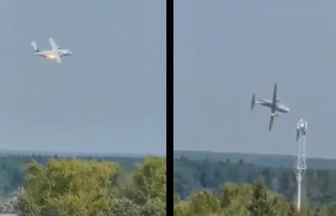 Il-112V crash-c-via Twitter