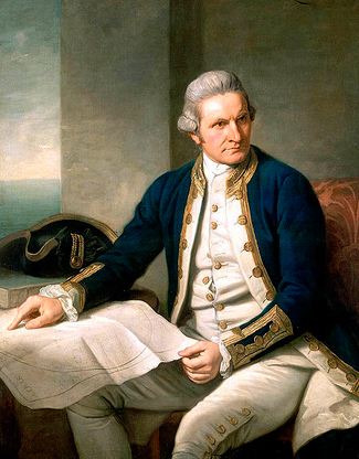 Image result for captain james cook