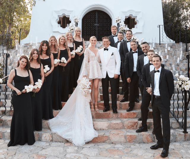 It's official! Mr and Mrs Stefanovic with their bridal party. (Source: Supplied)