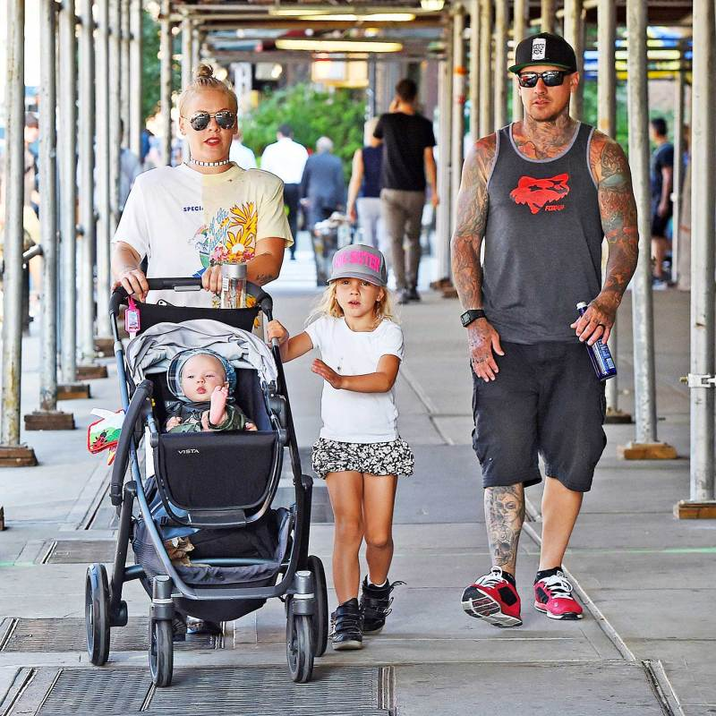 Pink's days start with a low-key family stroll and end up on stage!