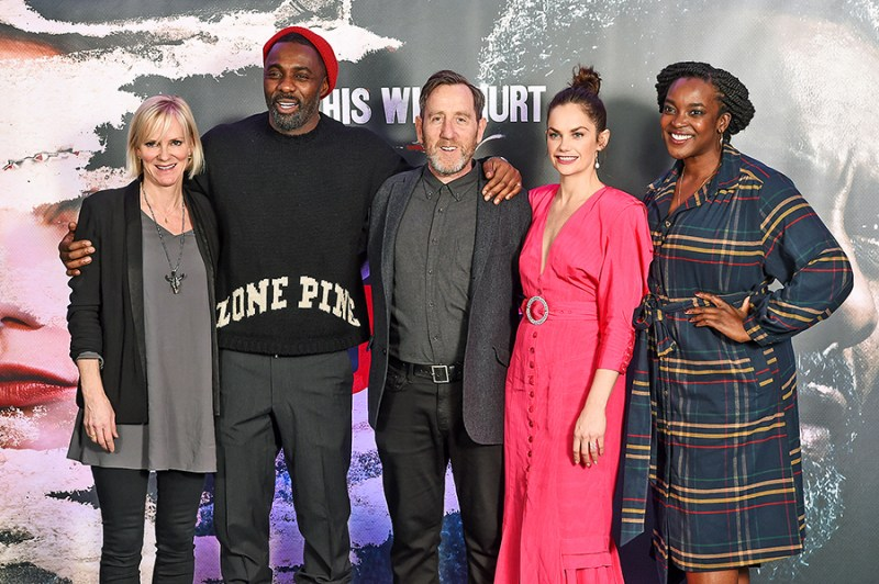 Hermione (with Idris Elba, Michael Smiley, Ruth Wilson and Wunmi Mosaku) is over the moon to be joining the cast of Luther as Dr Vivien Lake. Iamge: Getty Images