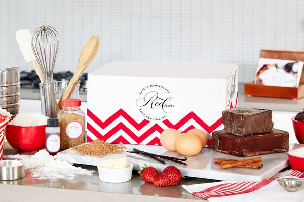 DIY Baking Kit from Red Velvet NYC, Valentine's day Subscription Boxes