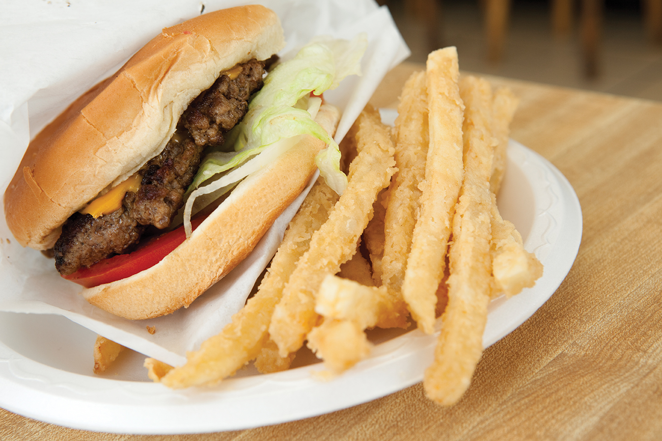 Breaded and cooked in lard, the fries at the Dixie Drive-In seem more Southern than French.